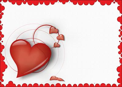 Faire-part de mariage avec des coeurs