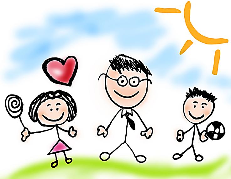 Dessin d'enfant pour la fête des pères